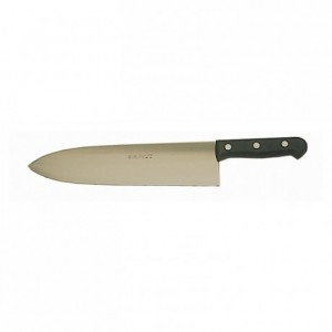 Couteau à abattre inox manche noir L 300 mm