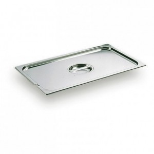 Lid with handle and notch for ladle stainless steel GN 1/3