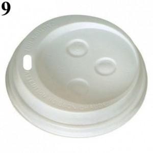 Couvercle dôme pour gobelet boisson chaude blanc Ø 73 mm (lot de 1000)