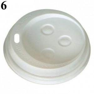 Couvercle dôme pour gobelet boisson chaude blanc Ø 83 mm (lot de 100)