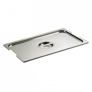 Notched lid for container with handles stainless steel GN 1/2