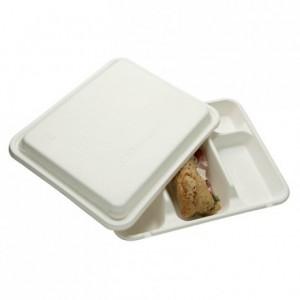 Couvercle pour plateau repas 5 compartiments (lot de 200)