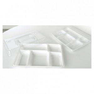 Lid for 5 compartments black tray (100 pcs)