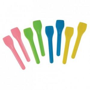 Cuillère à glace plastique coloris assortis en vrac 1 kg (lot de 600)