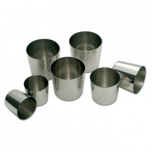 Round baba mould stainless steel Ø 45 mm H 43 mm (6 pcs)