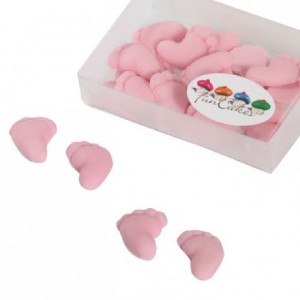 FunCakes Sugarpaste Baby Feet Pink 16 pc