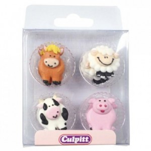 Culpitt Sugar Decorations Farmyard Friends pk/12