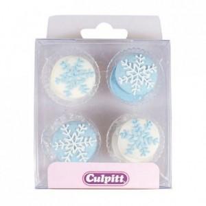 Décoration en sucre Culpitt flocons de neige 12 pièces