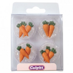 Culpitt Sugar Decorations Carrots pk/12