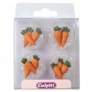 Décoration en sucre Culpitt carottes 12 pièces