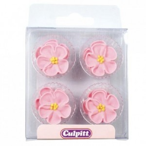 Culpitt Sugar Decorations Wild Roses Pink pk/12