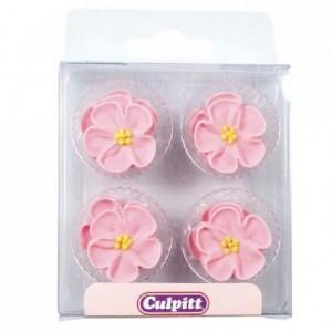 Décoration en sucre Culpitt roses 12 pièces