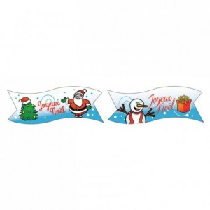 Edible Joyeux Noël streamer (24 pcs)