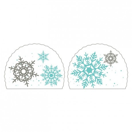 Snow flake yule log decoration (50 pcs)