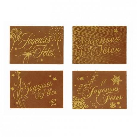 Edible decoration Joyeuses Fêtes (24 pcs)