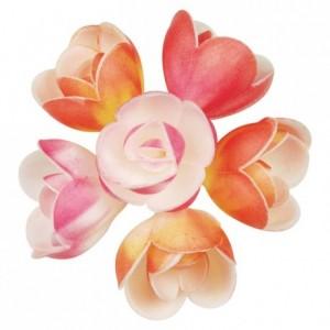 Décor azyme fleur pastel (lot de 72)