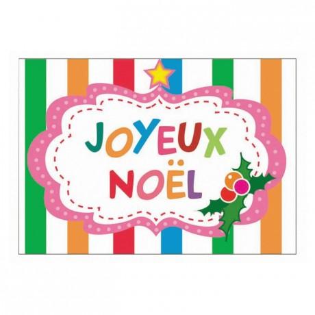 Edible Joyeux Noël sheet (24 pcs)