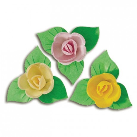 Décor azyme mini rose pastel (lot de 81)