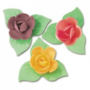 Pastel mini rose edible decoration (81 pcs)