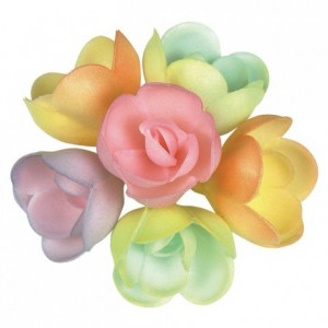 Décor azyme rose pastel (lot de 72)