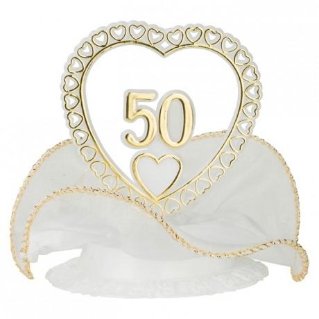 Matfer d cor c ur anniversaire 50 ans de mariage lot de 10 - Decoration pour 50 ans de mariage ...