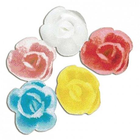 Décor en sucre mini rose cristallisée (lot de 60)
