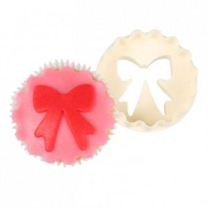 Découpoir à cupcakes FMM noeud et disque bordure festonnée
