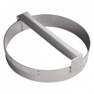 Pastry cutter with handle round plain stainless steel Ø220 mm