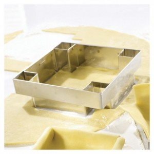 Découpoir à tarte carré 75 x 75 mm inox