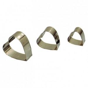 Découpoir cœur en inox petit modèle (set de 3)