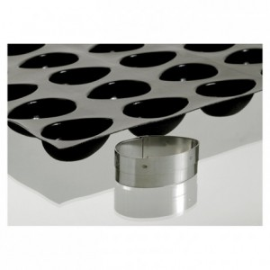 Cutter egg for biscuits bases stainless steel 100 x 65 mm