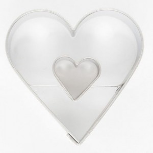 Cookie Cutter Heart in Heart 4,5 cm