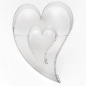 Cookie Cutter Decorative Heart in Heart 7 cm