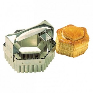 Double hexagonal cutter with handle stainless steel L 90 mm
