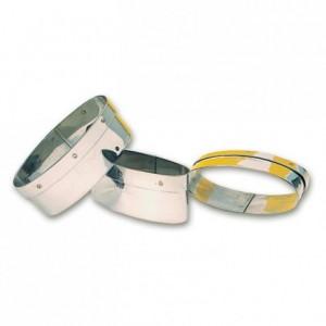Découpoir ovale à navette en inox 85 x 30 mm