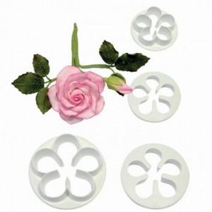 Découpoir PME corolle de fleurs 5 pétales 4 pièces