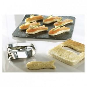 Découpoir poisson toast en inox 75 x 30 mm