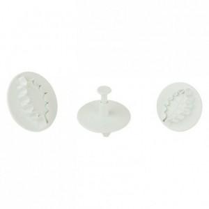 Découpoir poussoirs feuille de houx grand modèle (set of 3)