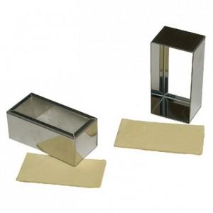 Découpoir rectangulaire uni en inox 75 x 35 mm