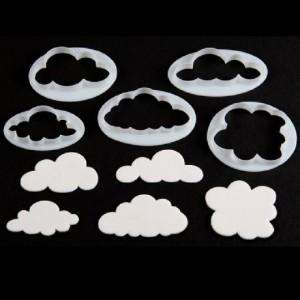 Découpoirs FMM nuages 5 pièces
