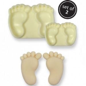 Découpoirs JEM pieds de bébé 2 pièces