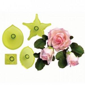 Découpoirs JEM roses larges 4 pièces