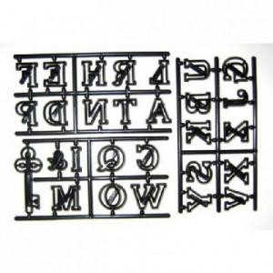 Découpoirs Patchwork alphabet en majuscule, esperluette et clé 2,5 cm