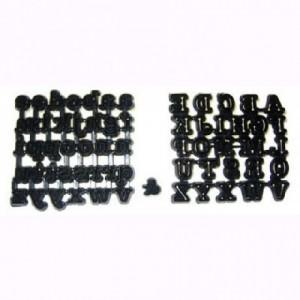 Découpoirs Patchwork alphabet en majuscules, minuscules et esperluette