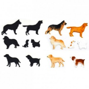 Patchwork Cutter Dog Silhouette Set
