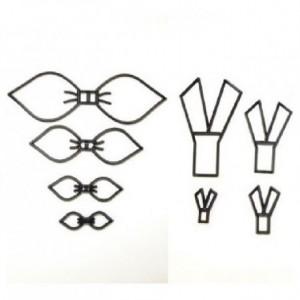 Patchwork Cutter Bow set/4
