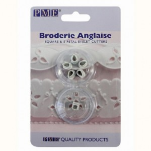 PME Broderie Anglaise Square and 5 Petal Eyelet Cutters