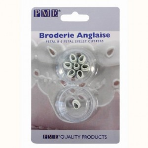 PME Broderie Anglaise Single and 6 Petal Eyelet Cutters
