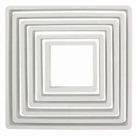 PME Plastic Cutter Square Set/6