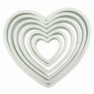 Découpoirs PME coeur 6 pièces